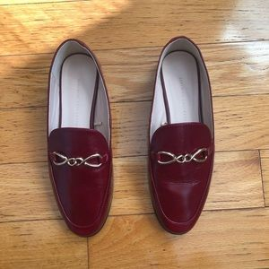 Zara Red Loafers